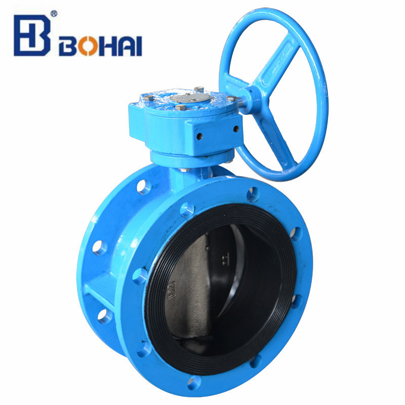 Flanged Solenoid Pneumatic Industrial Control Double Flange Butterfly Valve