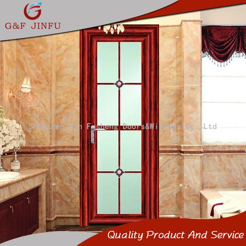 China Waterproof Wood Look Aluminium Casement Bathroom French Door