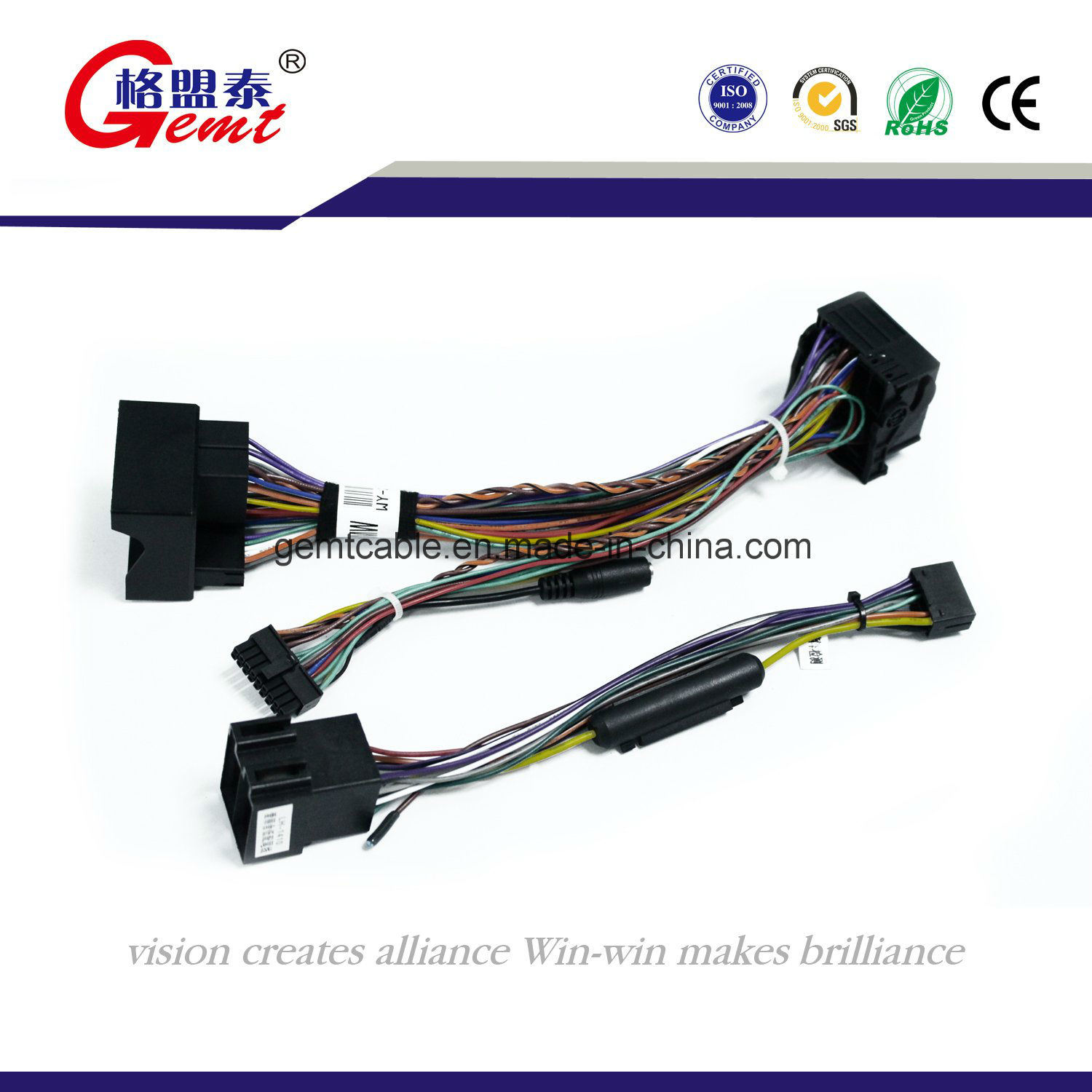 Custom Made Auto Wiring Harness Solutions Car China High Quality Vw Audi Bmw Stereo Radio Automotive Wire