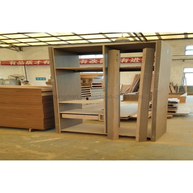 Hotel Bedroom Furniture Cherry Wood Wardrobe With Mini Bar (SW 02)