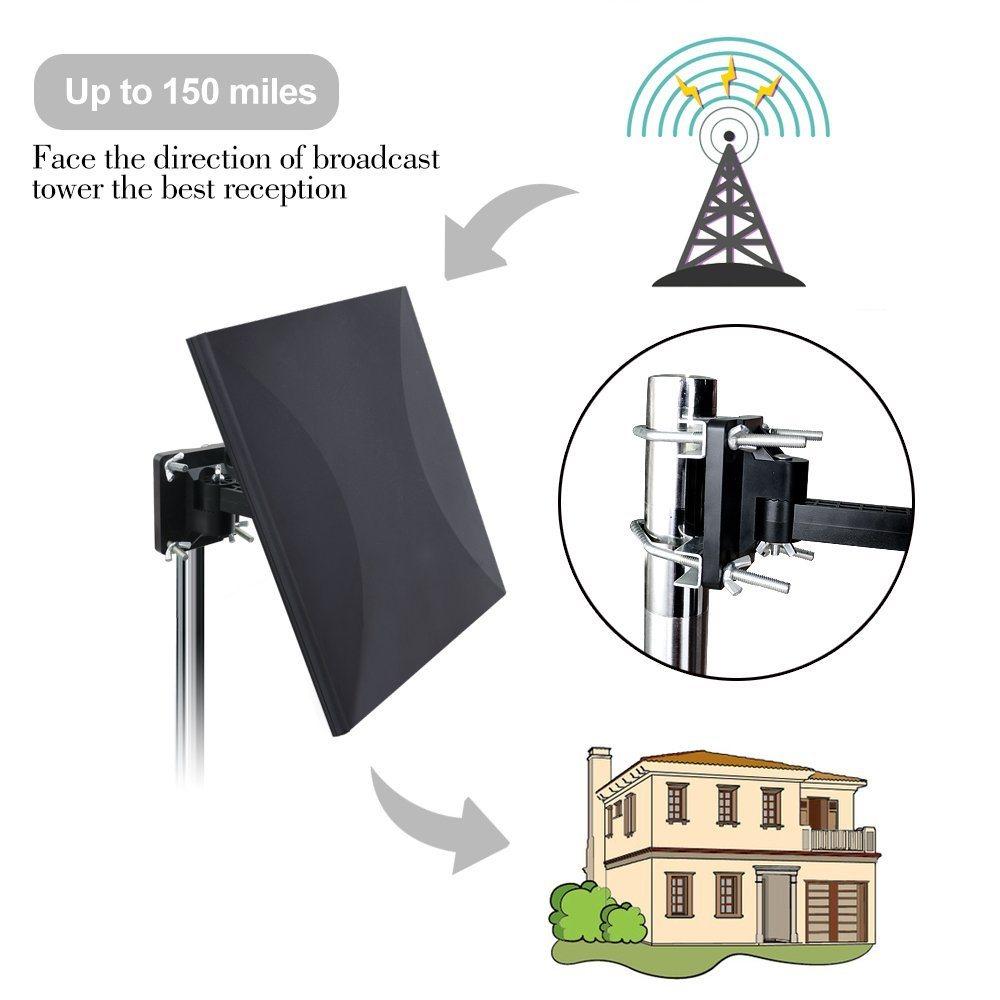 China Tv Antenna Indoor Hd Digital With 80 Miles Long Range Amplifier