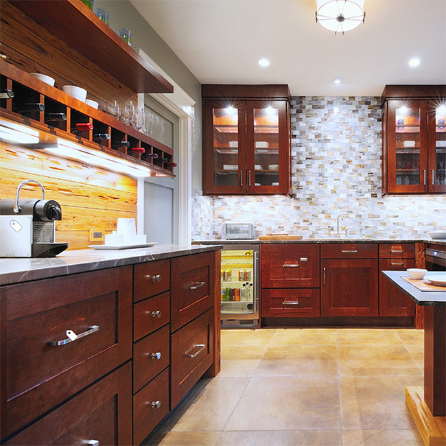 Hot Item Custom Made Solid Wood Kitchen Cabinet