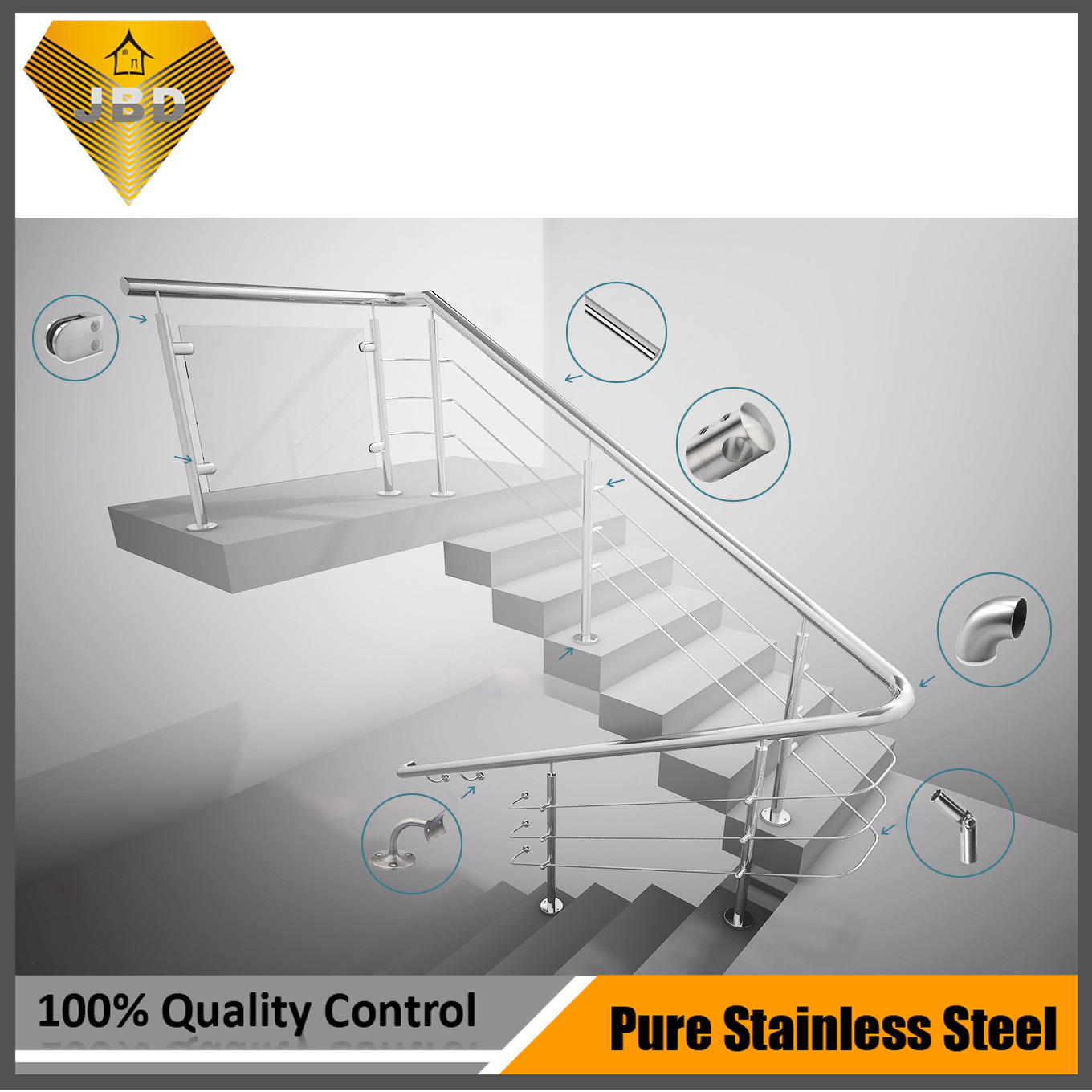 Construction Fittings, Baluster Parts, Railings Accessories, Stairs Parts