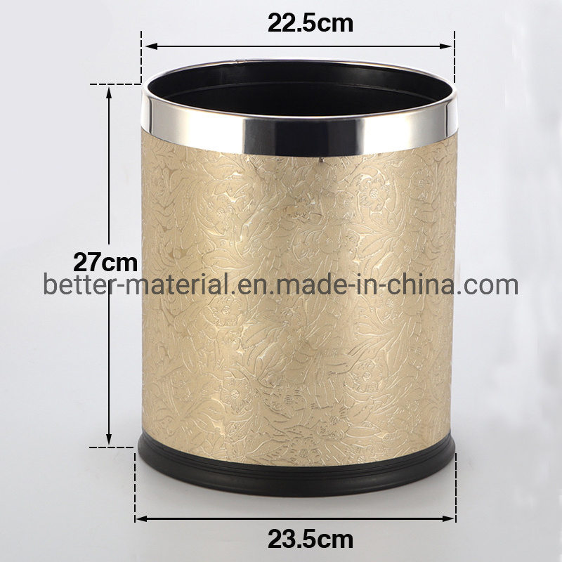 China Stainless Steel Double Layer Bin, Stainless Steel Bathroom Garbage Can