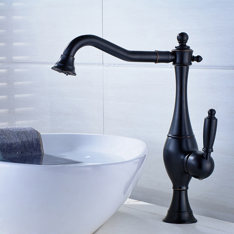 [Hot Item] Oil Rubbed Bronze Kitchen Faucet with One Hole