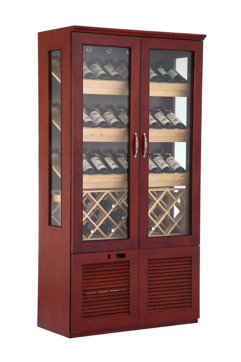 China Two Door Mahogany Wine Cooler Chiller Twoc2 Photos