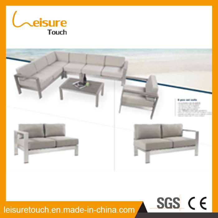 [Hot Item] All Weather Aluminum Patio Leisure Corner Sofa Set Modern Cheap  Outdoor Garden Lounge Home Hotel Furniture