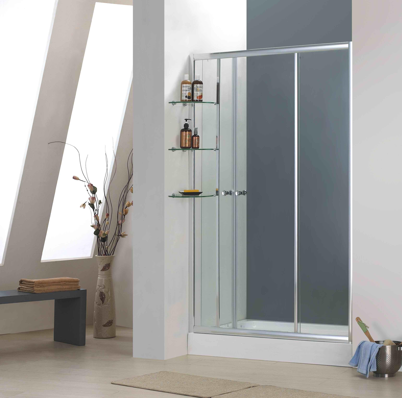 China Bathroom 4mm Tempered Glass Sliding Door Shower Enclosure