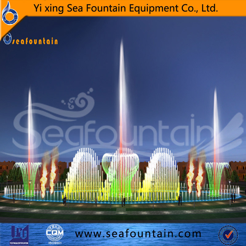Urban Construction Contemporary Music Fountain Changeable pictures & photos