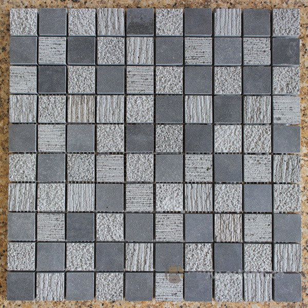 China Mosaic, Basalt Mosaic Stone, Grey Basalt Stone pictures & photos