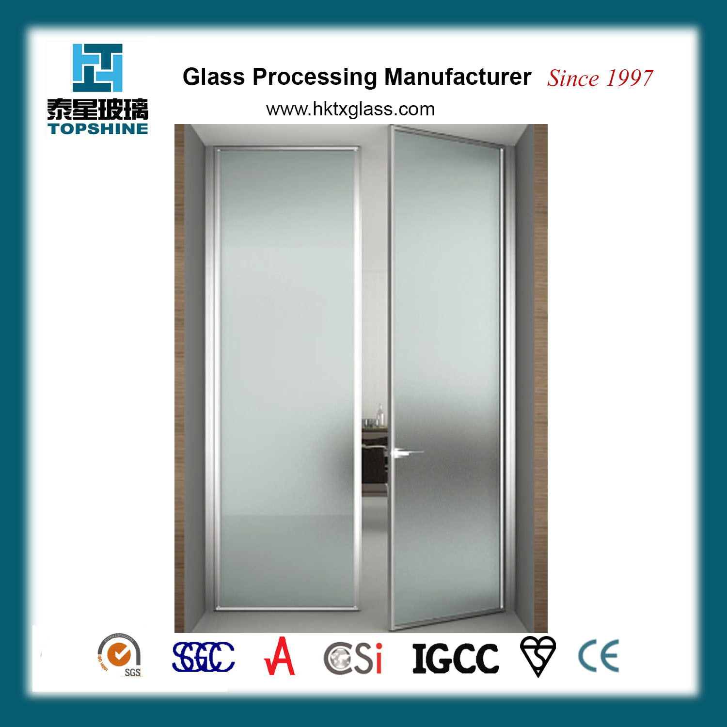 China Interior Frosted Glass Door Tempered Glass Door Frosted Glass Interior French Doors China Shower Frameless Glass Doors Bathroom Frameless Glass Doors