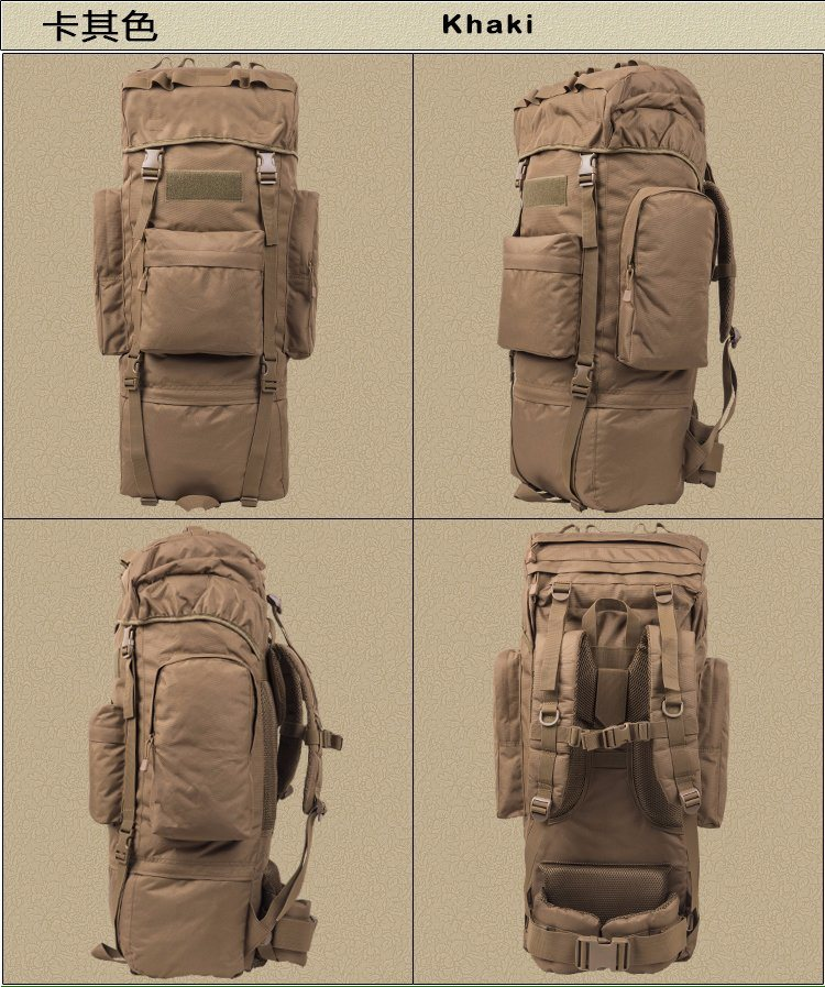 65L 1000d Bionic Nylong Tactical Military Hiking Backpack