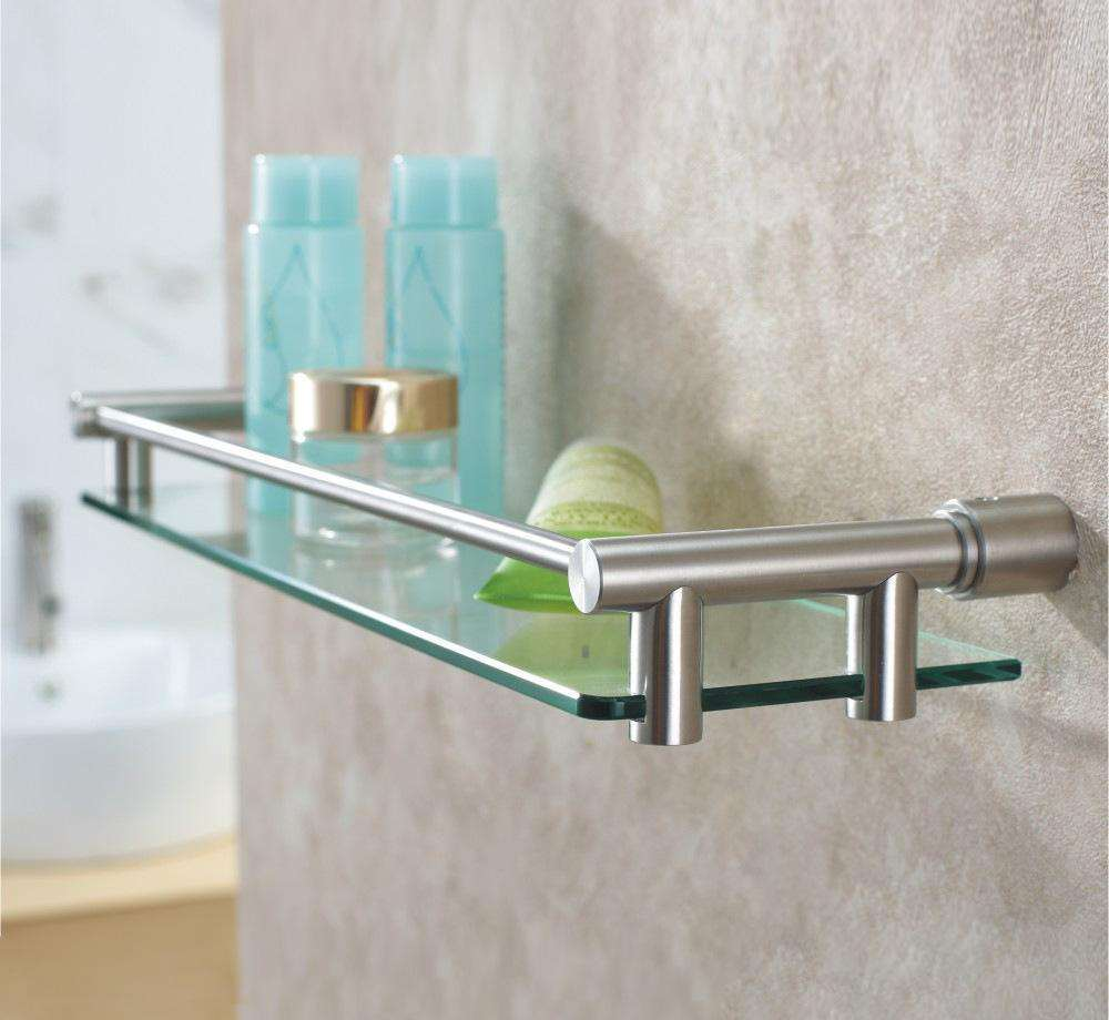 China Stainless Steel Modern Design Bathroom Accessories Glass Shelf ...