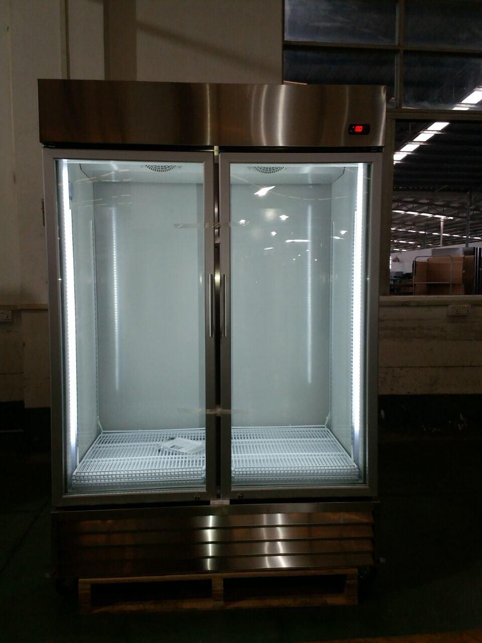 China Double Door Auto-Defrost Kitchen Glass Door Stainless Steel ...