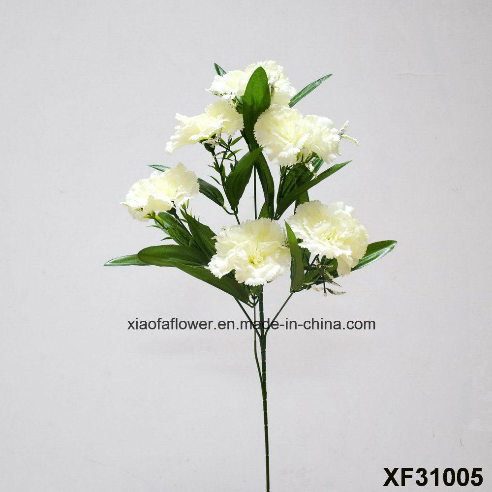 China Artificialplasticsilk Flower Single Stem Of Carnation