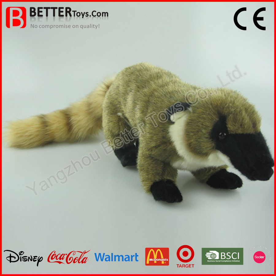 China Astm Realistic Stuffed Animal Plush Coati Soft Toy Raccoon For