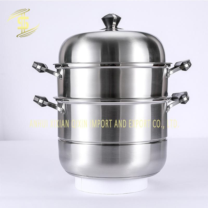 Size: 26cm Stainless Steel Steamer Cooker Set Composite Bottom ...