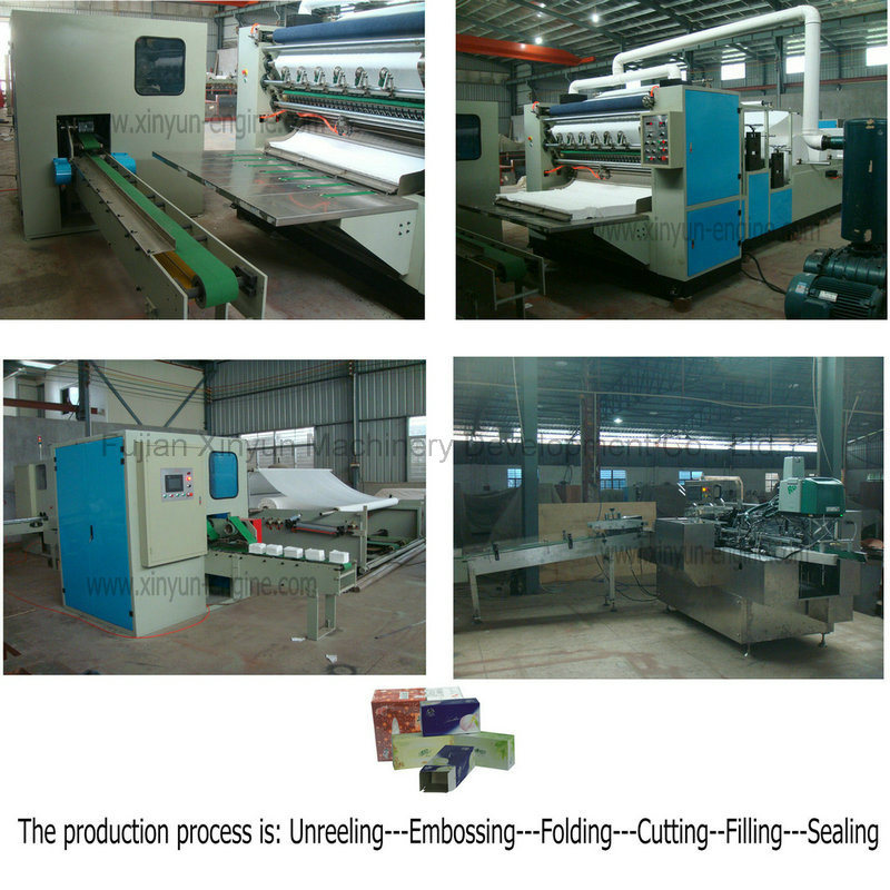 Automatic V Folding Facial Tissue Paper Production Machine Complete Line
