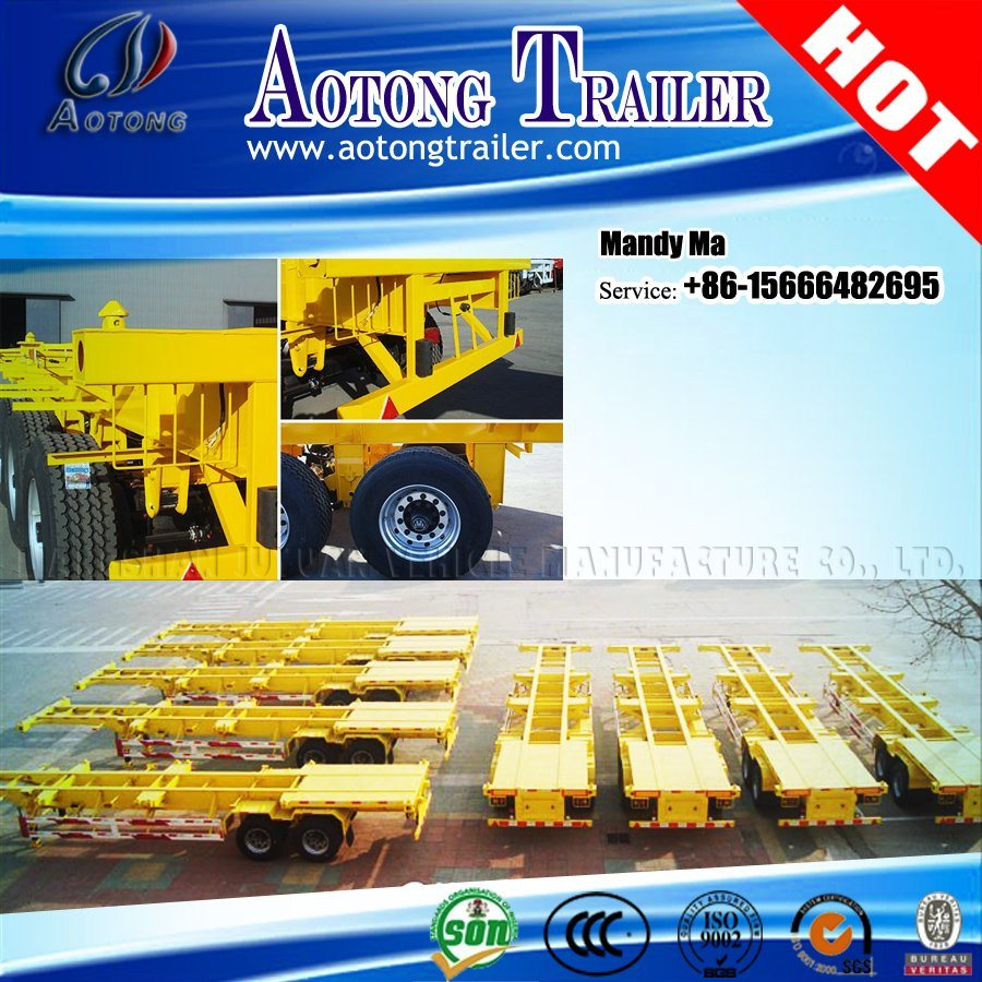 20FT 40FT Container Semi Trailer Chassis for Philippines pictures & photos