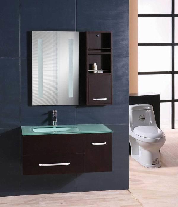 Mdf Gl Wash Basin Bathroom Cabinet
