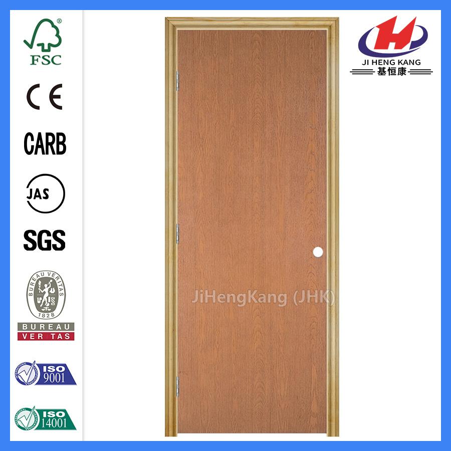 China Clear Pine Interior Internal Hardwood Flush Door Slab Photos