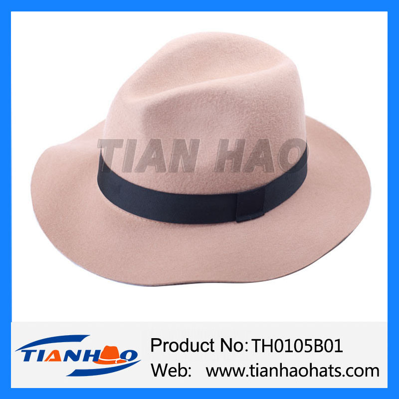 Factory Wholesale 100% Wool Felt Fedora Floppy Hat for Women and Man pictures & photos