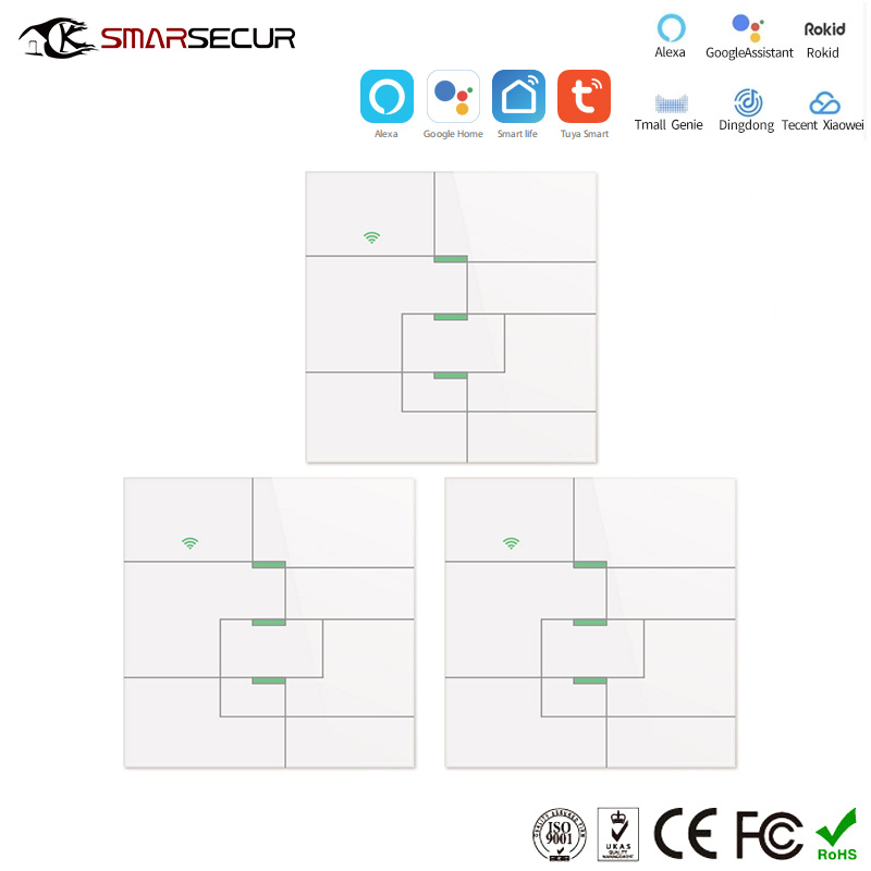 Touch Keypad Smart Home WiFi Light Switch with APP Remote Control OEM Home Electric Wall Switch pictures & photos