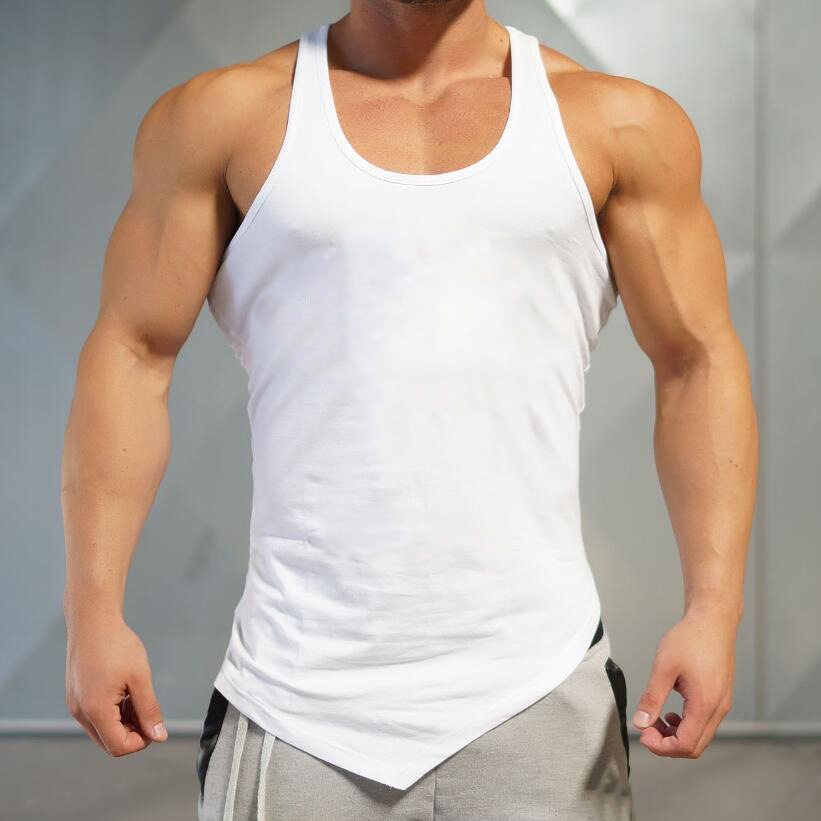 e5b309f1ea608 Bulk Wholesale Printing High Quality 100% Cotton Fitness Singlet Custom  Blank Muscle Mens Tank Top with Your Logo