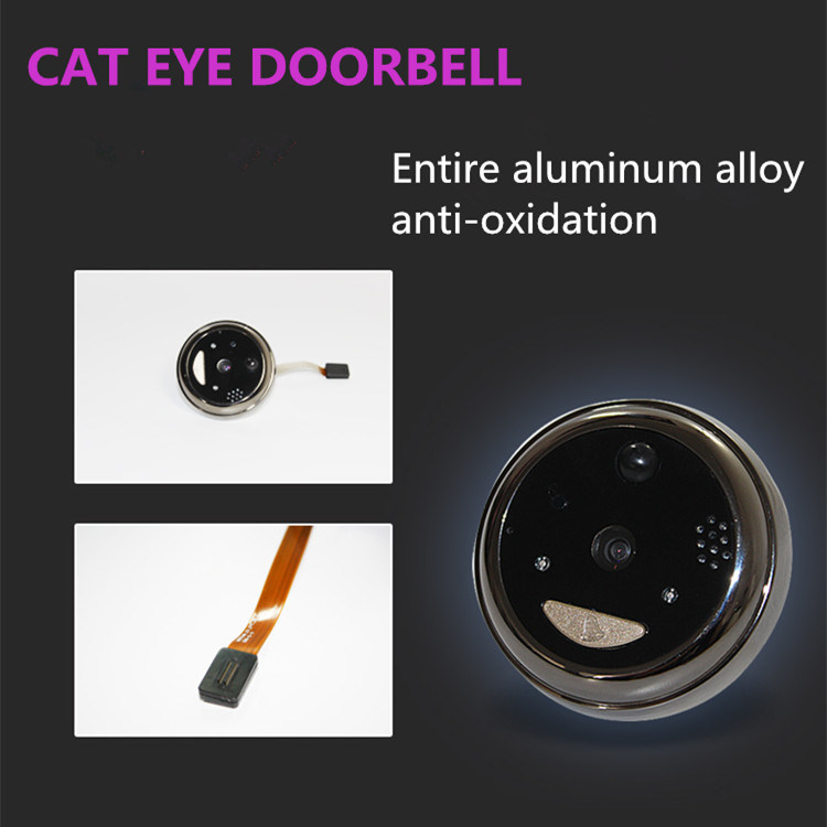 New Arrival Cat Eye Video 2.8 Inch Hq Screen WiFi Doorbell Camera pictures & photos