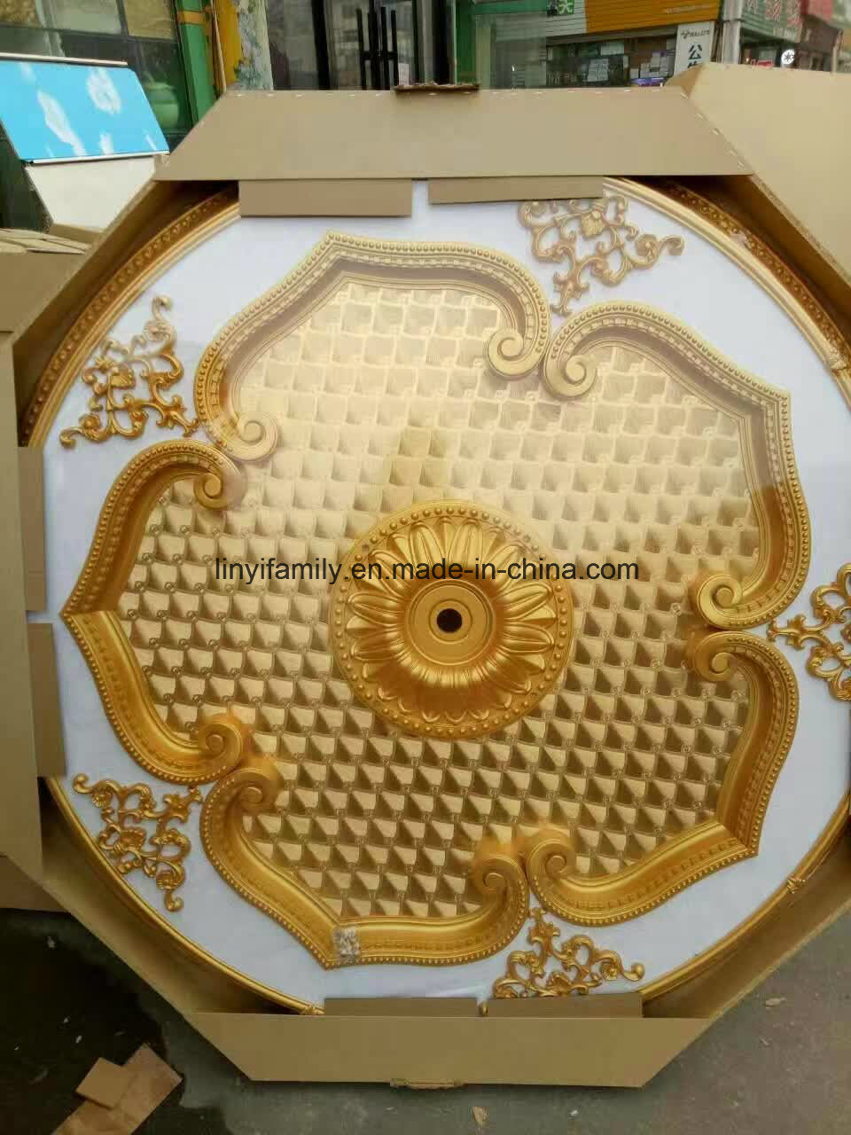 China PS Artistic Ceiling Medallion for Arabic Market Photos ...
