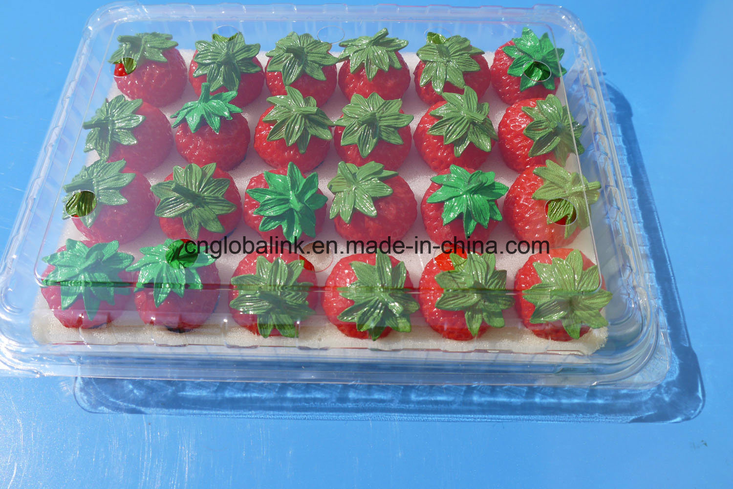 [Hot Item] Plastic Fruit Packaging Container Clamshells Blister Packaging  Box for Strawberry 500 Gram FDA Approved
