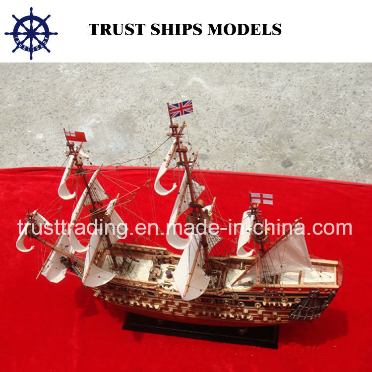 Custom Handcrafted Wooden Model Ship
