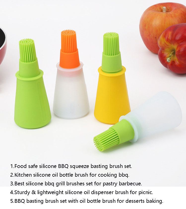 BBQ Silicone Heat Resistant Barbecue Baking Grilling Oil Brush Basting Brushes