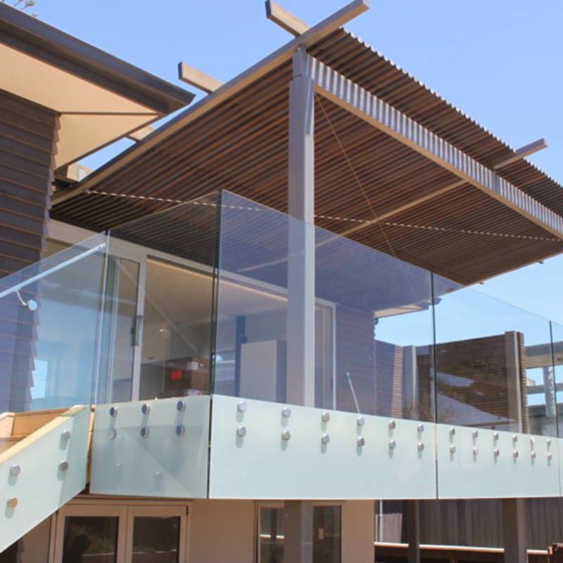 China Prima Building Tempered Glass Balcony Railing ...