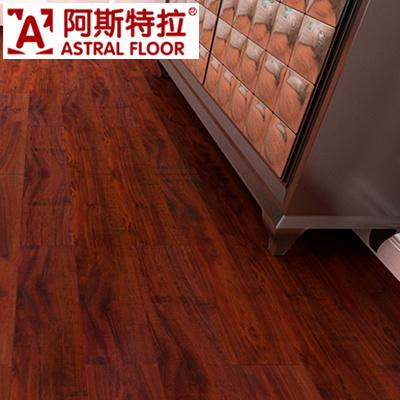 Hot Item Dark Red Color In 12mm Waterproof Laminated Flooring