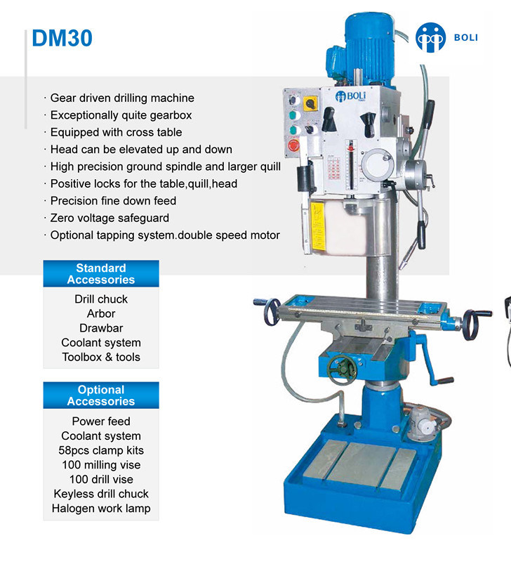 Dm30/Dm50 Drilling and Milling Machine