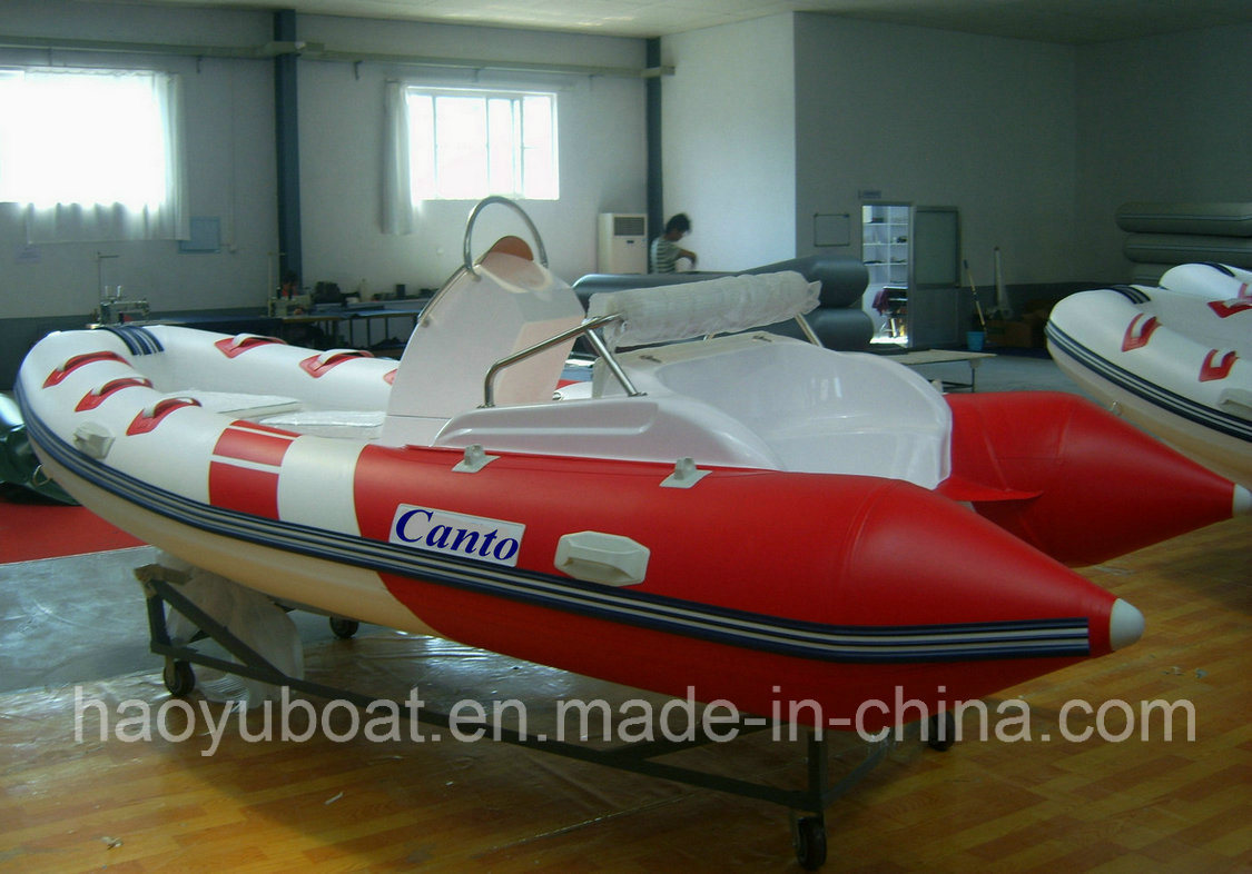 15.5ft Rib470c Recsue Boat with Hypalon Fiberglass Hull Rigid Inflatable Boat