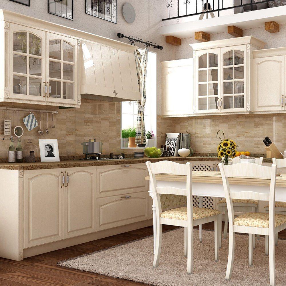 China European Style Modern Rta Modular Oak Solid Wood Kitchen ...