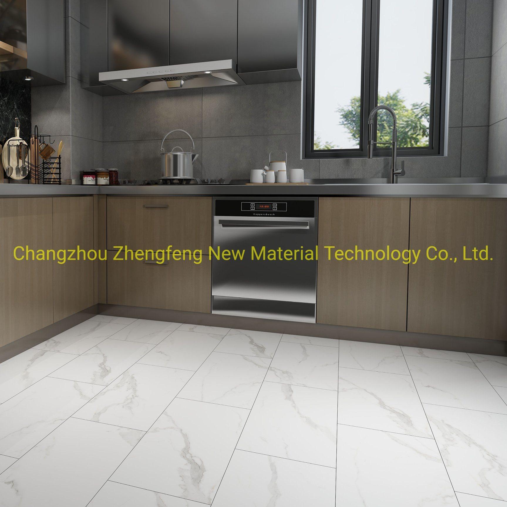 [Hot Item] Ceramic Spc Click Tile Stone Texture Rigid Vinyl Click Flooring  Plastic Interior Stone Floor