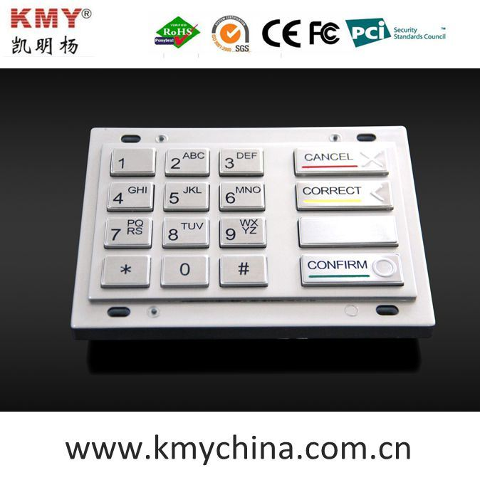 PCI 4.0 Encryption Pin Pad Wincor V5 V6 EPP Metal Keypad (KMY3503A-PCI)