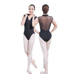 1d7dd3f56ae6 China Adult Black Ballet Leotards with Back-Mesh