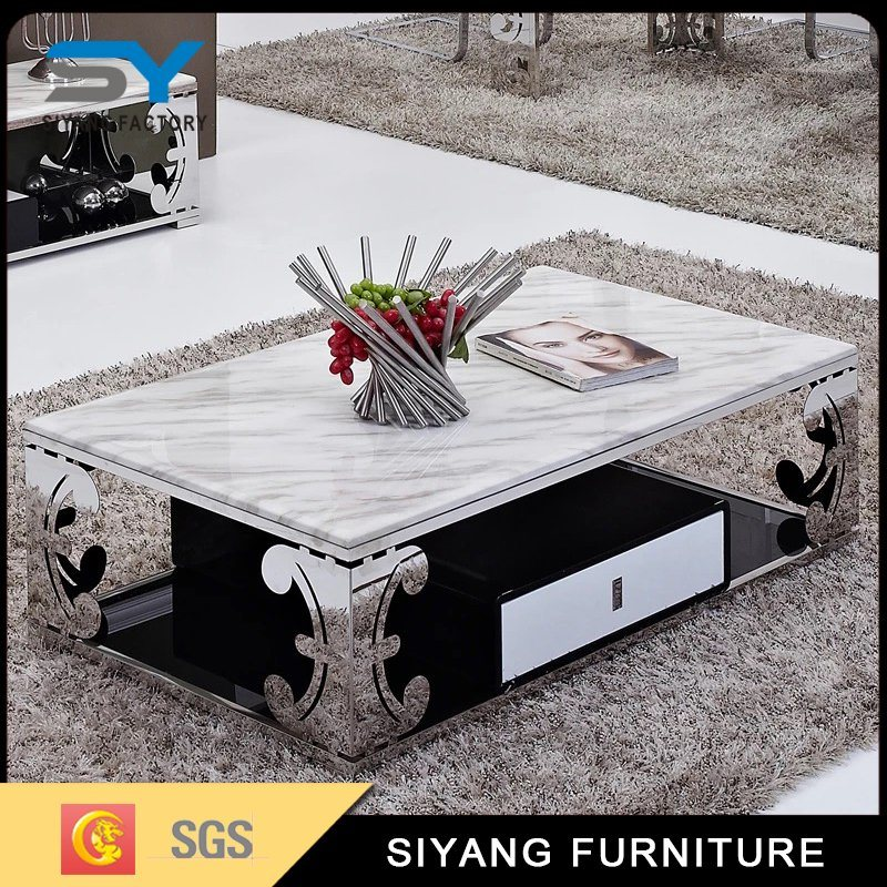 China Furniture In United State Modern Marble Coffee Table With