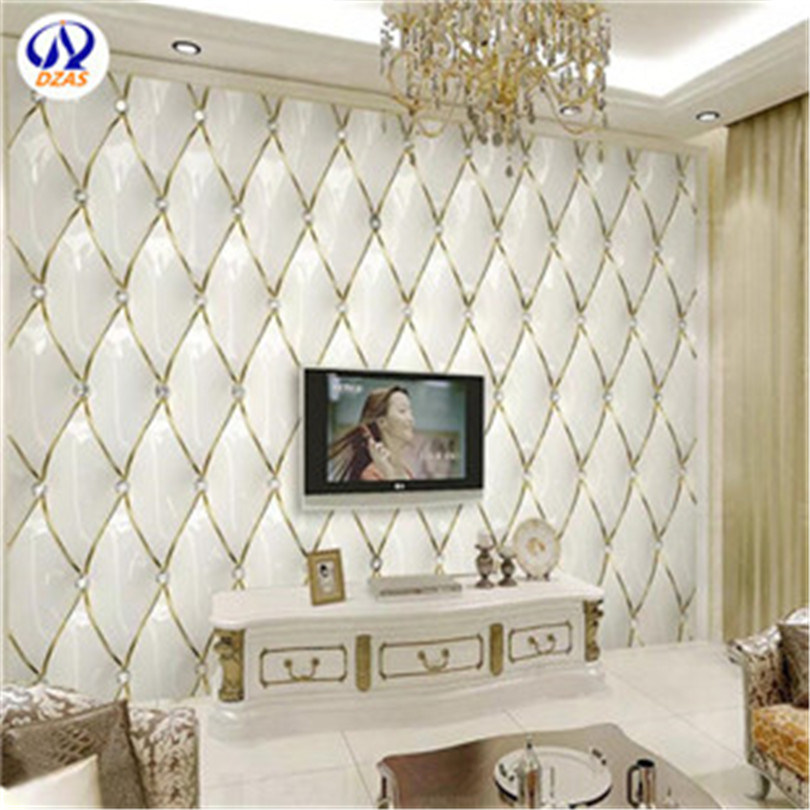 [Hot Item] as-Mc 5D European TV Background Wallpaper 3D Atmosphere Soft  Package Mural Simple Modern Bedroom Living Room Seamless Video Wall Covering