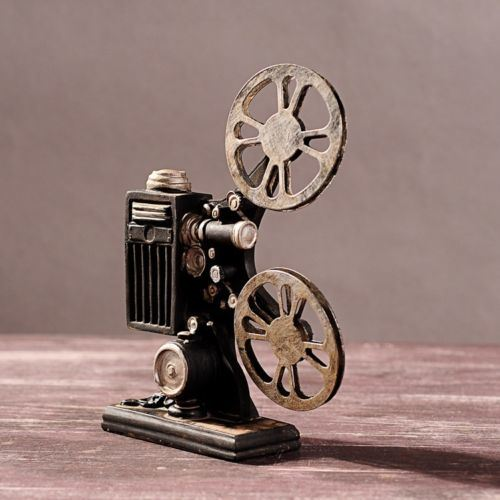 Vintage Resin Movie Film Projector Model Figurine Figure Props Home Decor