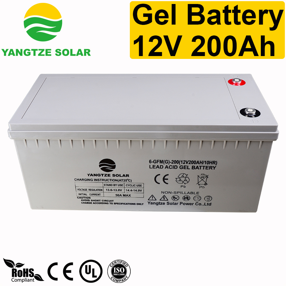 Hot Item Yangtze Power 12v 200ah Solar Battery Backup System Circuit China Gel