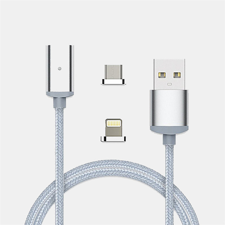 3 in 1 Nylon Insulated USB Charging and Data Cable for Iphohne, Samsung, Type C Mobile