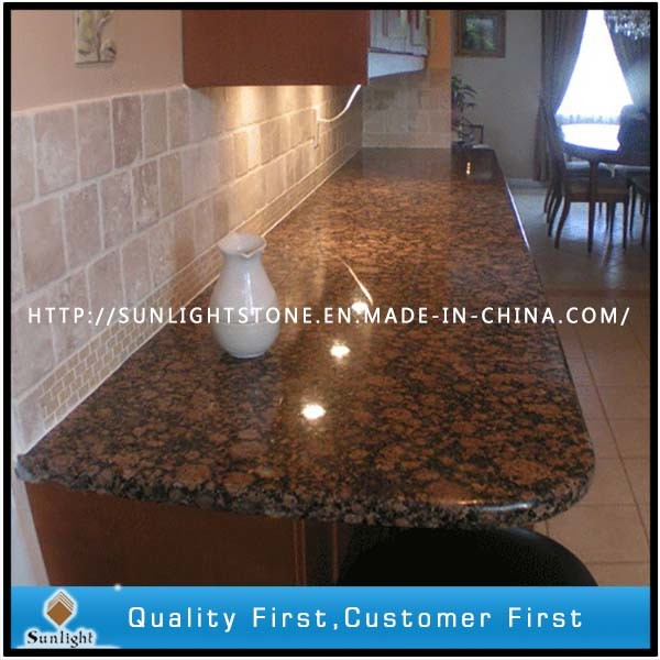 Prefab Polished Baltic Brown Granite Stone Vanity Tops for Bathroom pictures & photos