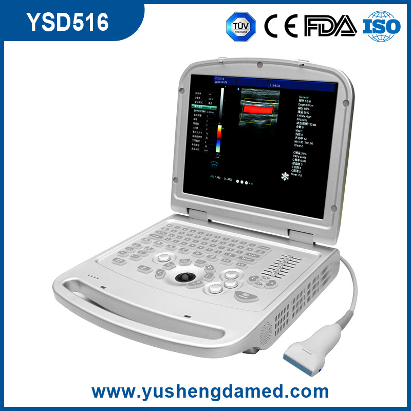 Ce Medical Equipment Digital Laptop 3D/4D Color Doppler Ultrasound Scanner pictures & photos