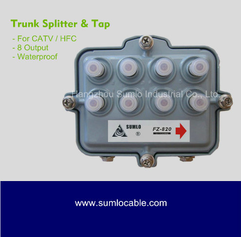 China Waterproof Filed 8way Taps for CCTV Trunk Line - China