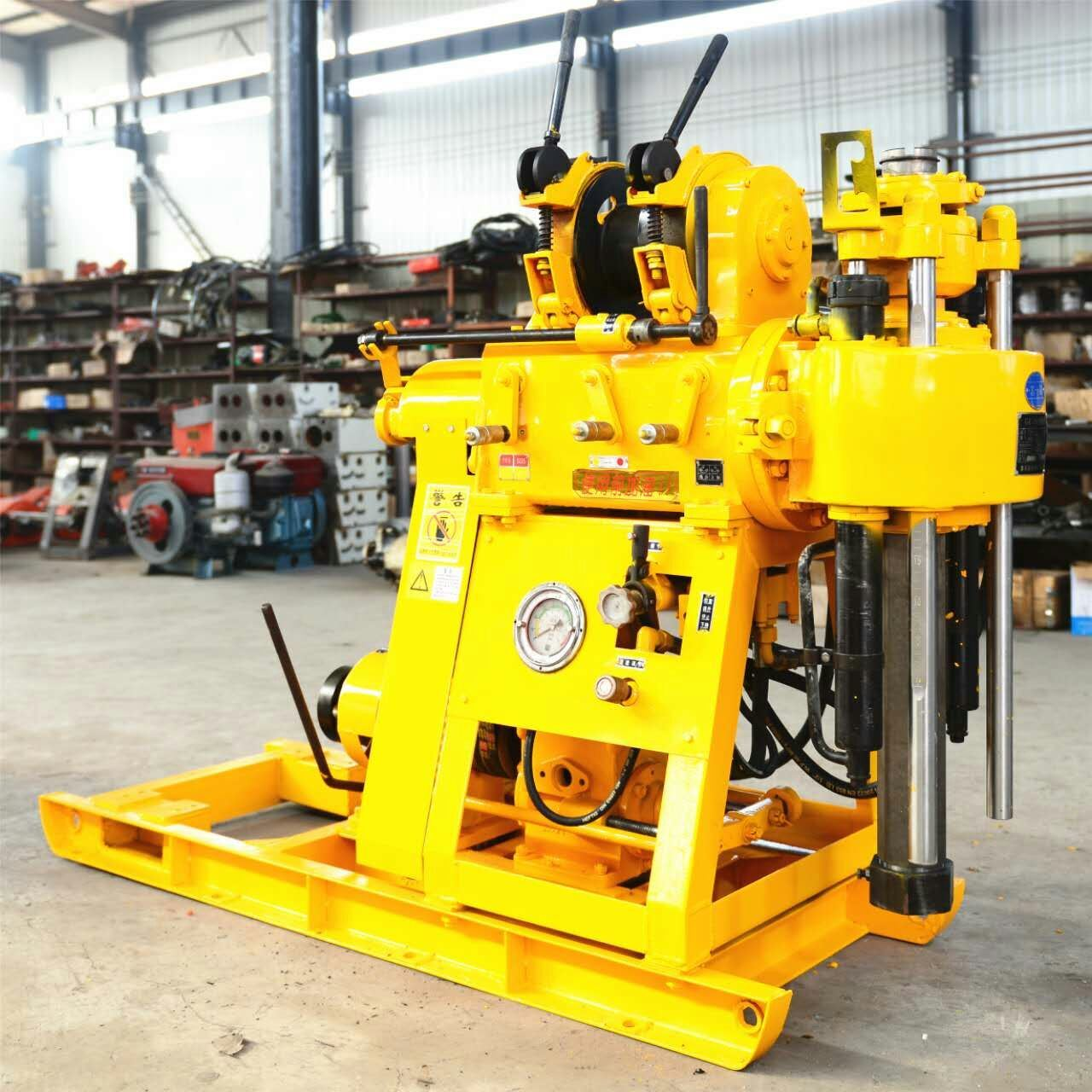 Spindle Type Core Drilling Rig Portable Small Size Water Well Drilling Equipment 200m Capacity